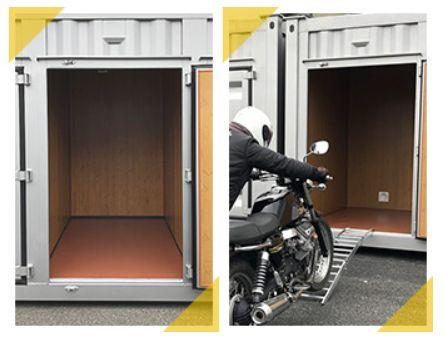 バイク収納スペース